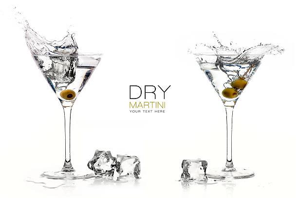 Cocktails Martini sec avec de grands éclats. Modèle de Design - Photo