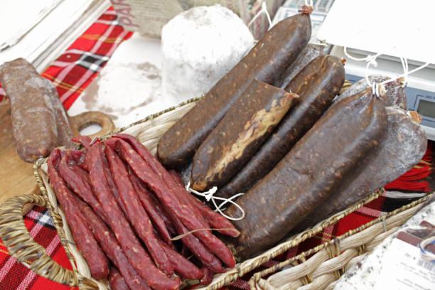 Dry meat stock photo