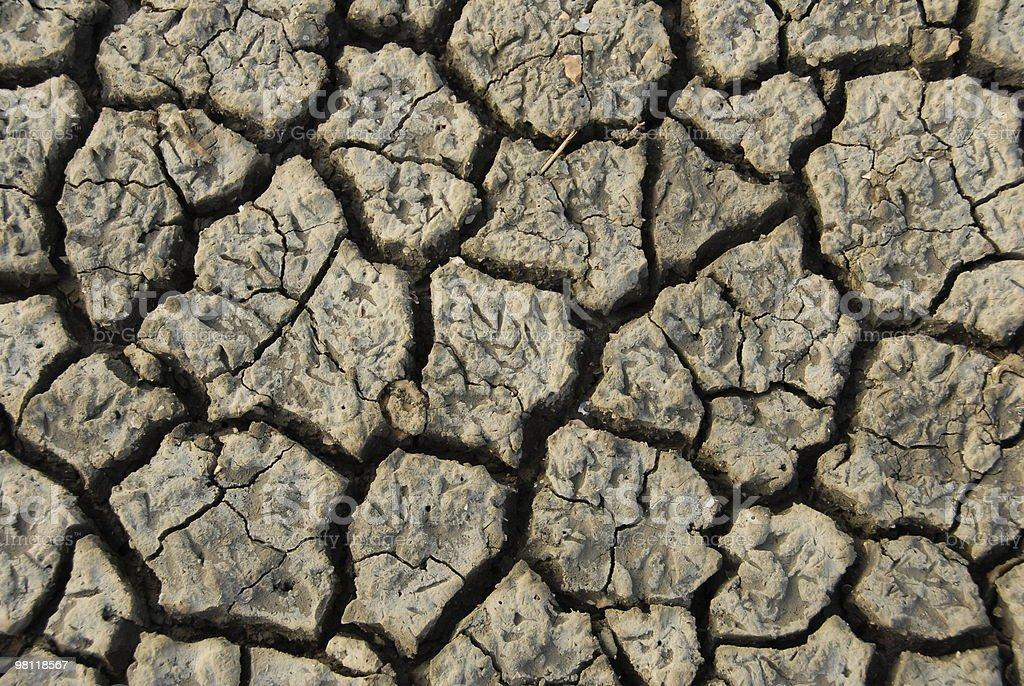 Dry Mud Floor royalty-free stock photo