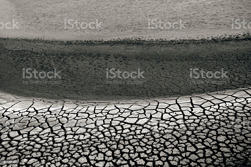 Dry mud royalty-free stock photo