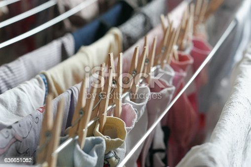 istock Dry on a rope baby socks 636651082