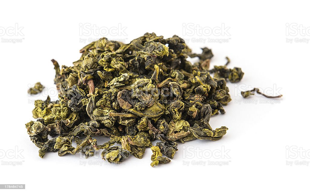 Dry oolong tea leaves royalty-free stock photo