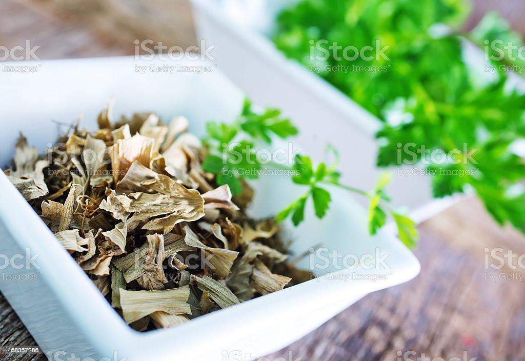 dry parsley royalty-free stock photo