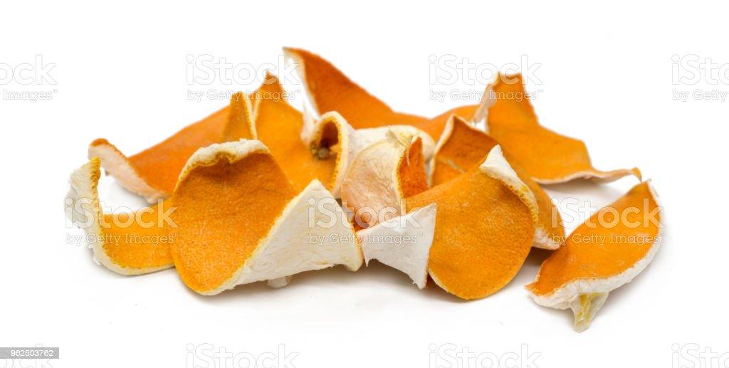 Dry peel of orange, isolated on white background - Royalty-free Citrus Fruit Stock Photo