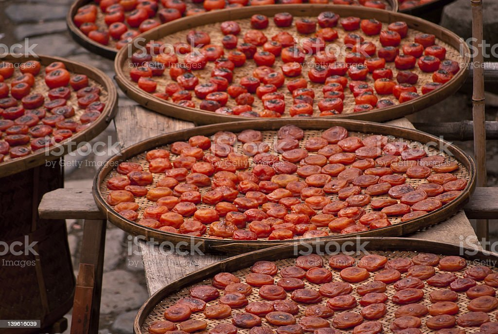 Dry persimmons royalty-free stock photo