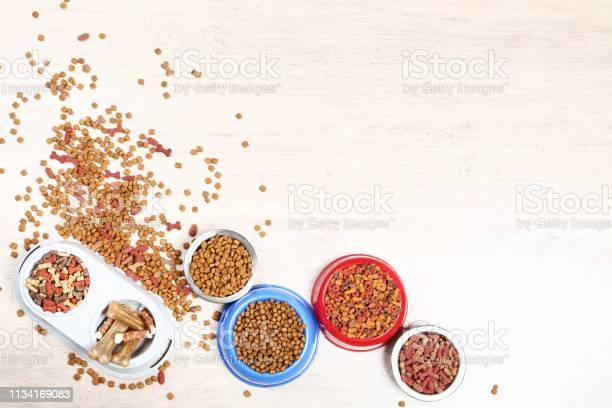 Dry pet food in bowls with bones on the floor picture id1134169083?b=1&k=6&m=1134169083&s=612x612&h=lmjn37woafrmrulaf3ajhghklvnak1d5k uzxpru8mi=