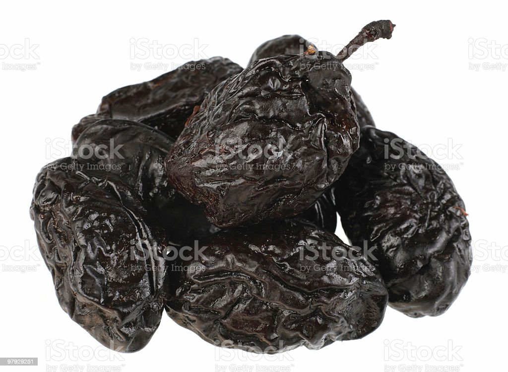 Dry plum royalty-free stock photo