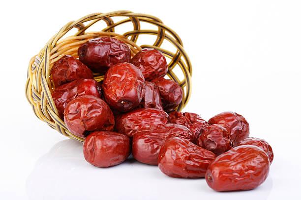 Trockene rote jujubes – Foto