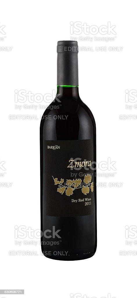 Dry Red Wine Zmora 2011 stock photo
