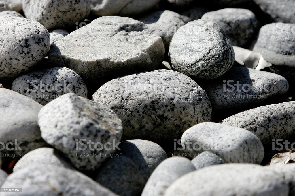 Dry River Rocks (Background/Texture) royalty-free stock photo