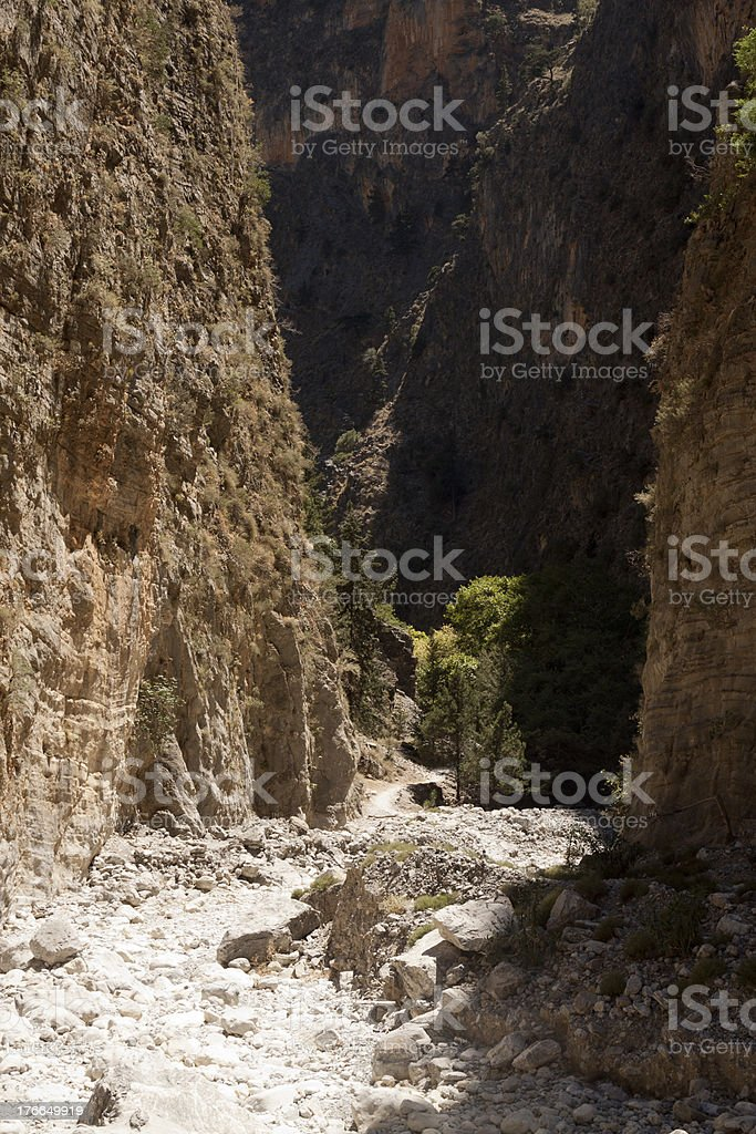Dry Riverbed in Samaria Gorge royalty-free stock photo