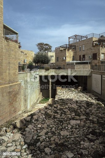 Dry Riverbed In The Old City Of Jerusalemisrael Stock Photo & More Pictures of Accidents and Disasters