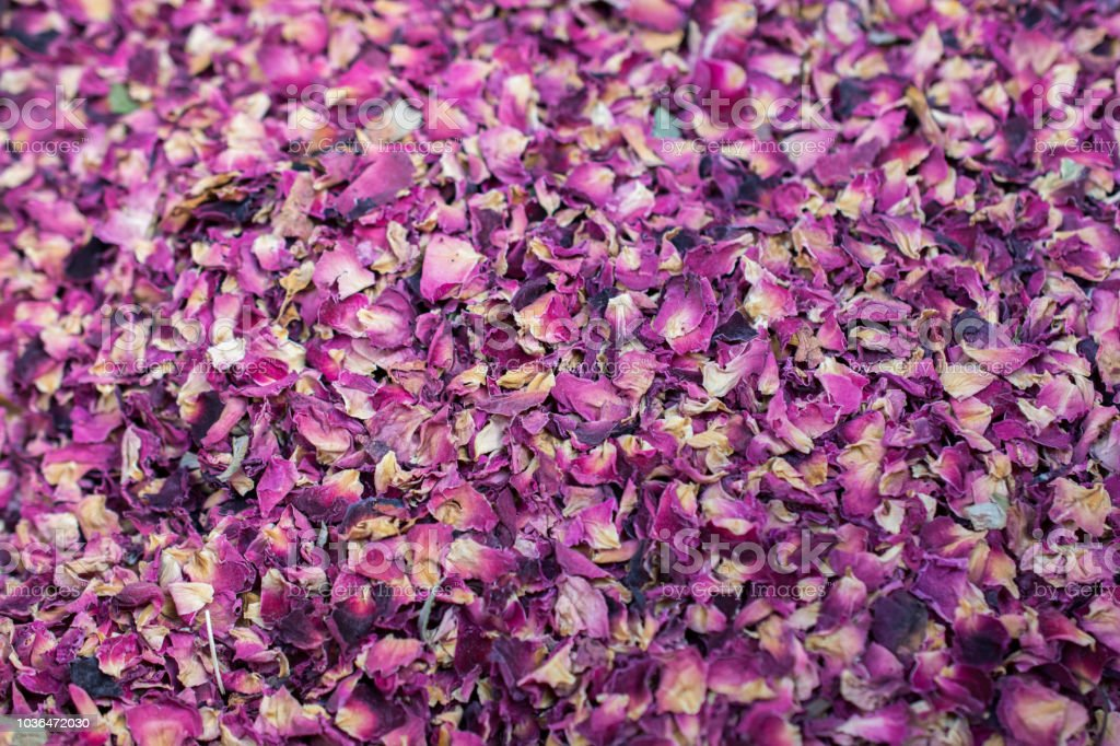Dry Rose Petals As A Background Stock Photo - Download Image