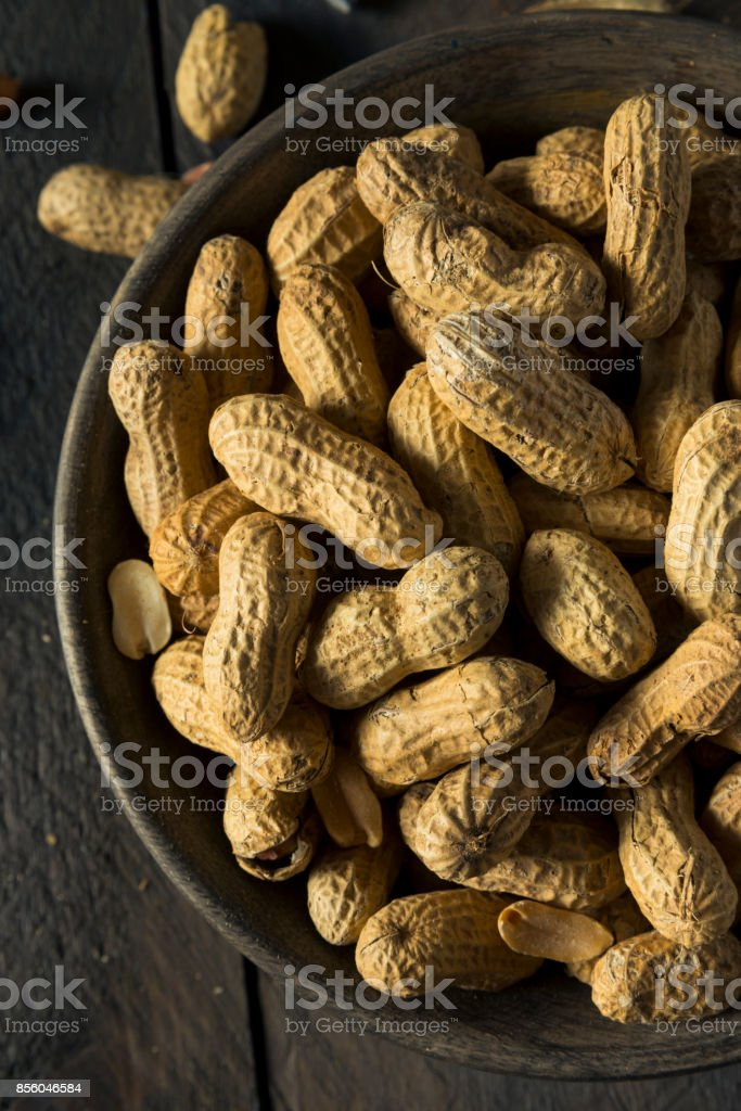 Dry Salted Roasted Shelled Peanuts stock photo