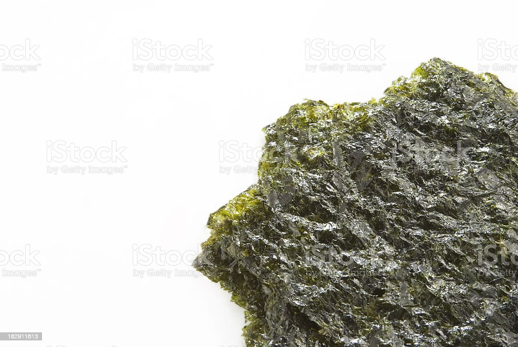 Dry Seawwed Isolated royalty-free stock photo