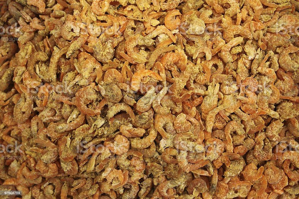Dry Shrimps royalty-free stock photo