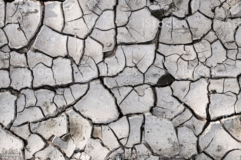 Dry soil caused by crisis drought drought background.