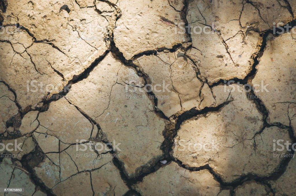 Dry soil. Global warming effect. stock photo