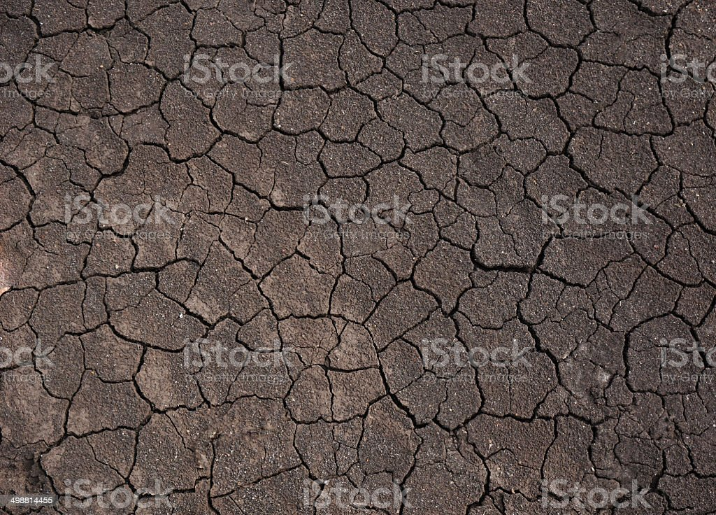 dry soil on the ground royalty-free stock photo
