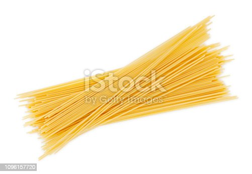 Dry Spaghetti Pastas isolated on white (excluding the shadow)