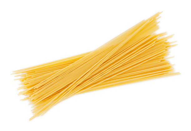Dry Spaghetti Pastas Dry Spaghetti Pastas isolated on white (excluding the shadow) spaghetti stock pictures, royalty-free photos & images