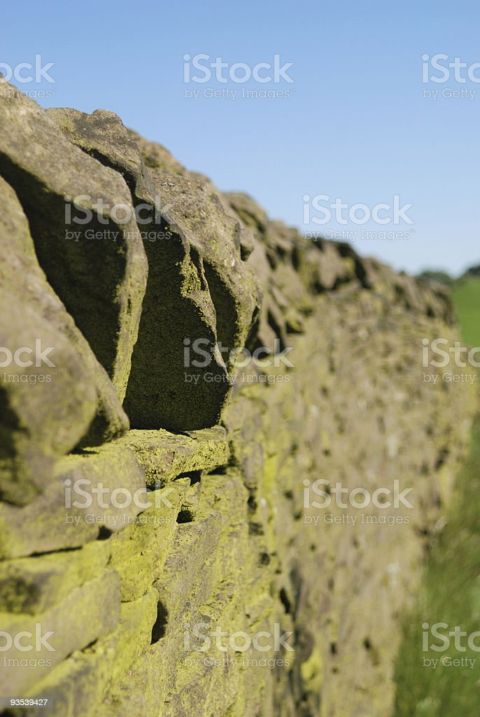 Dry Stone Wall in England stock photo