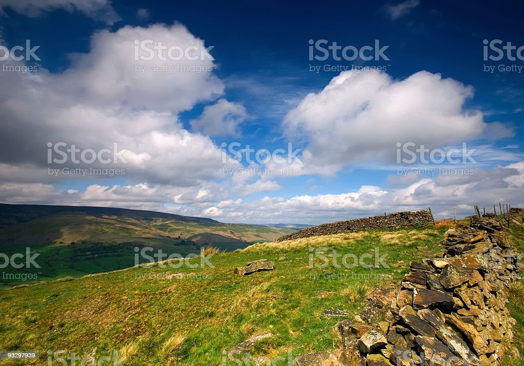 Dry Stone Wall - Peak District royalty-free stock photo