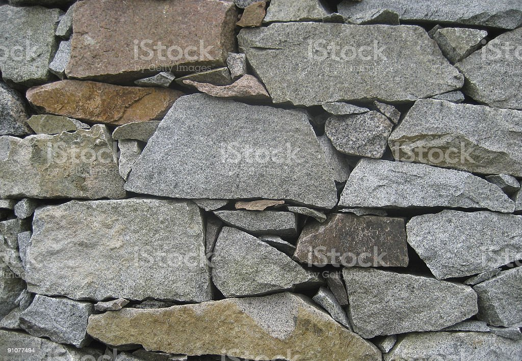Dry Stone Wall royalty-free stock photo