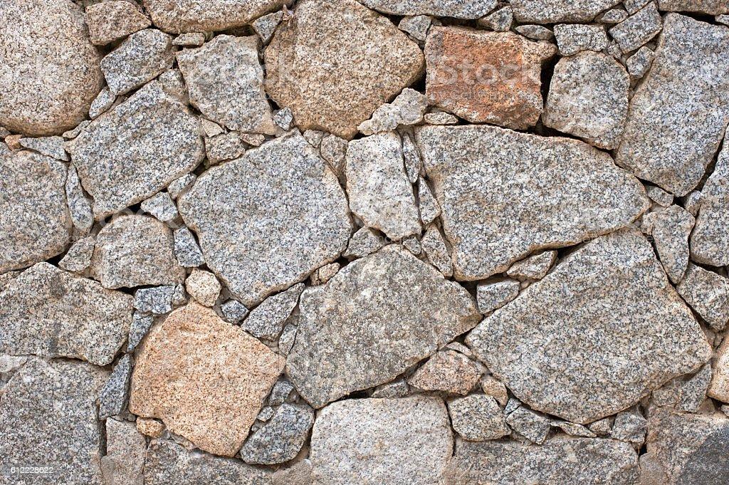 Textura de parede de pedra seco - foto de acervo