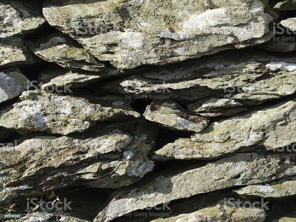 Dry Stone Walling royalty-free stock photo