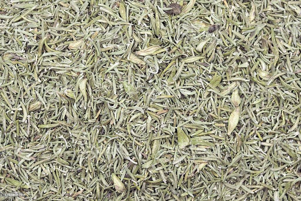 dry thyme stock photo