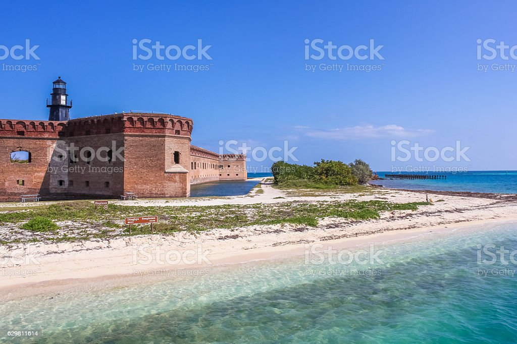 Dry Tortugas entrance stock photo