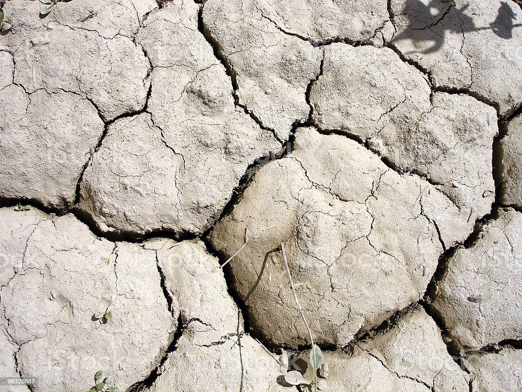 dry water hole royalty-free stock photo