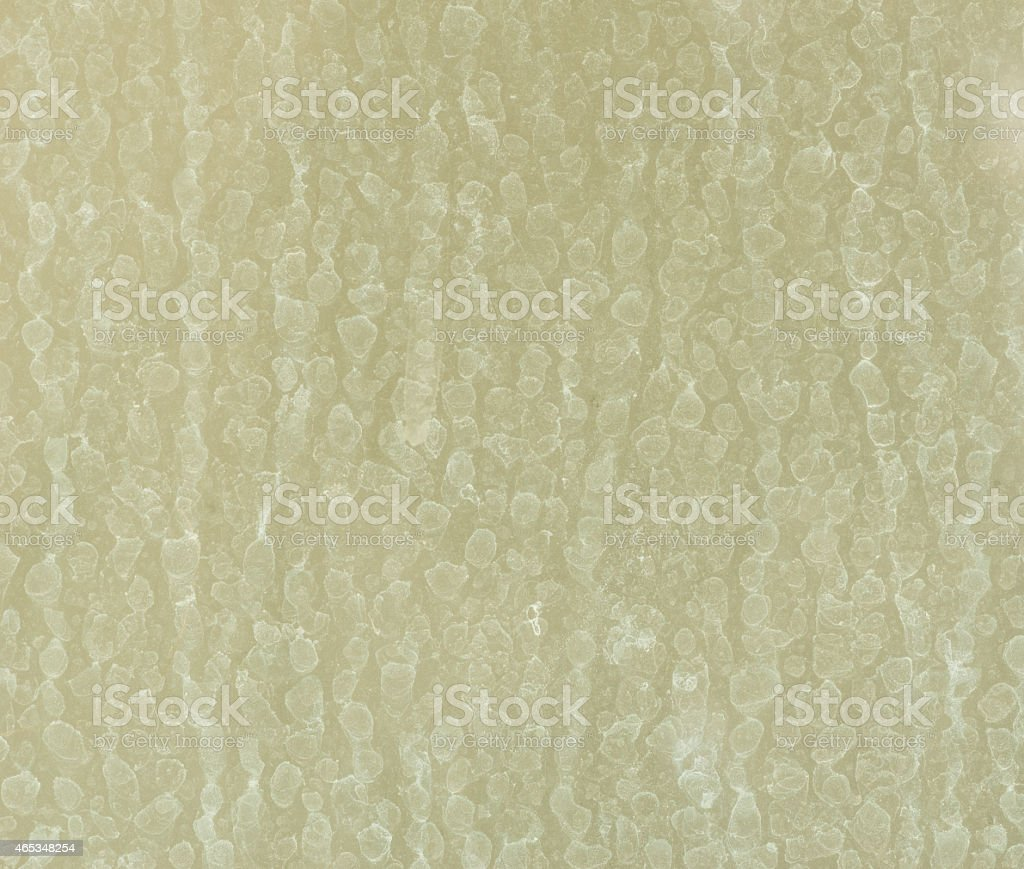 dry water stains on the glass wall stock photo