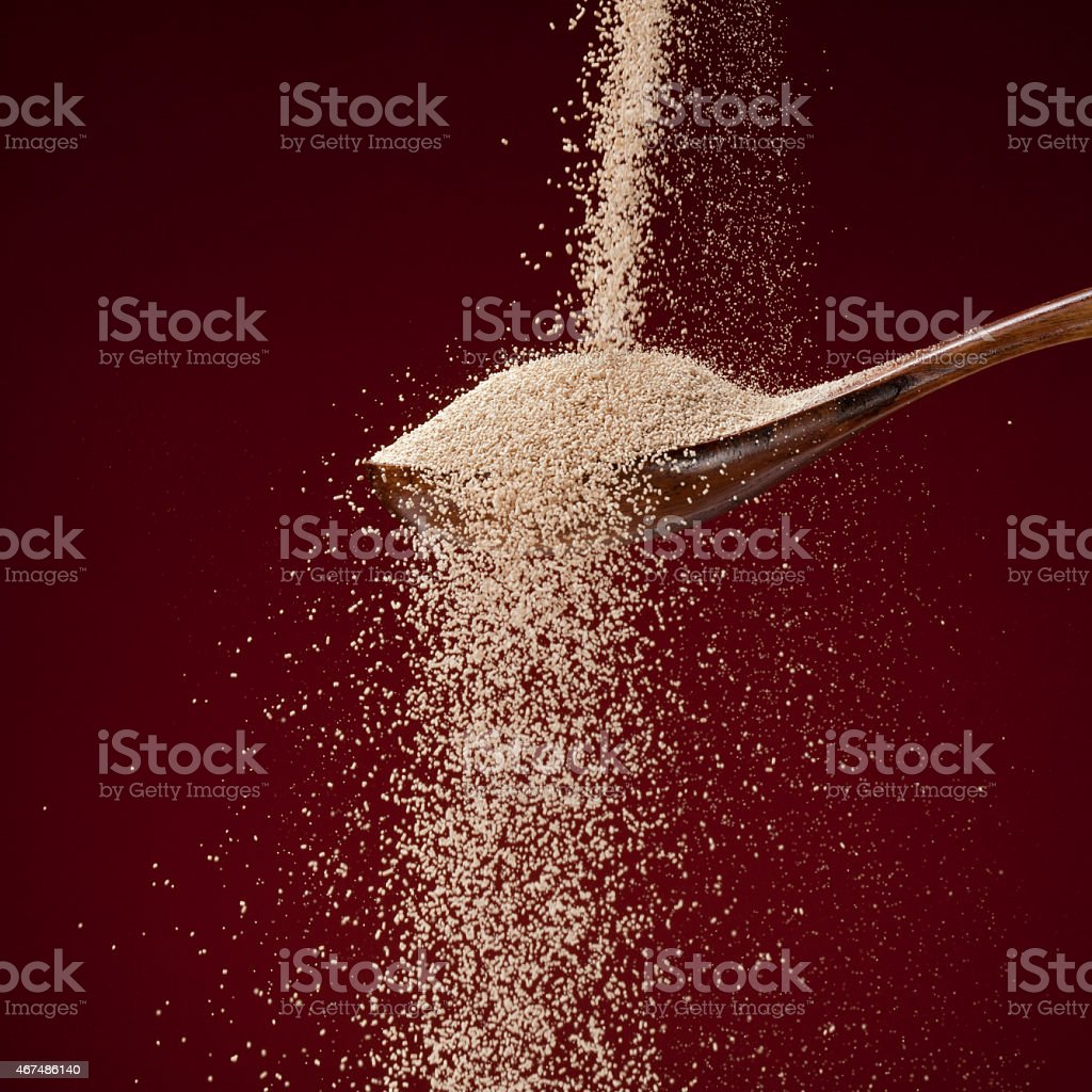 Dry yeast stock photo