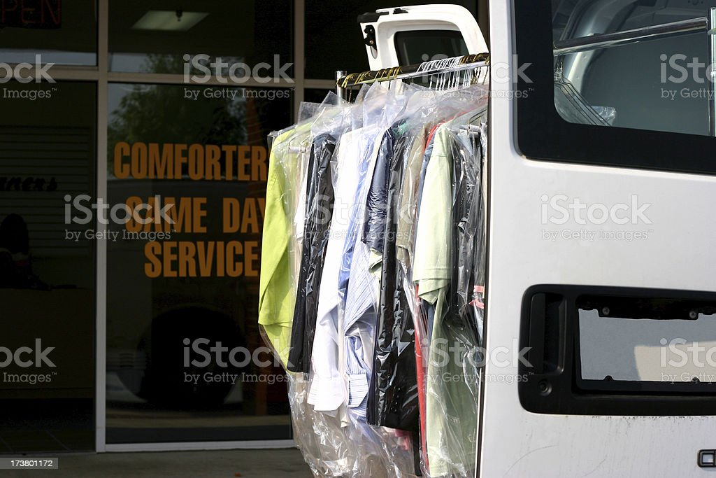 Drycleaned Delivery royalty-free stock photo