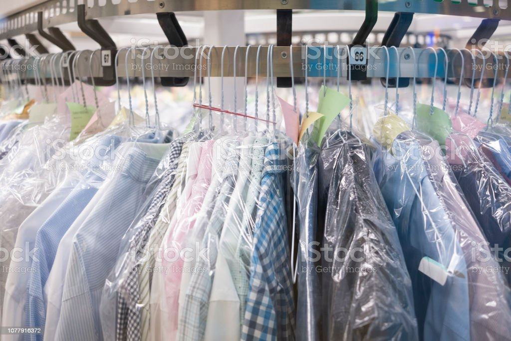 Dry-cleaning stock photo