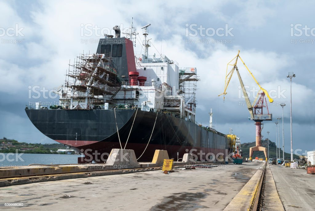 Drydock stock photo