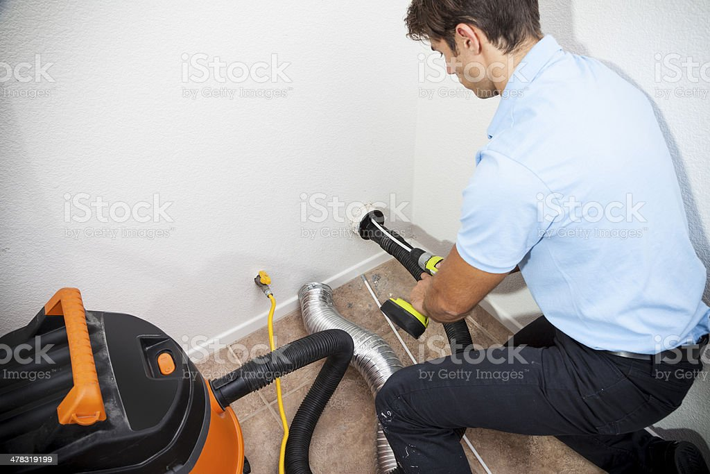 Dryer Vent Cleaning royalty-free stock photo