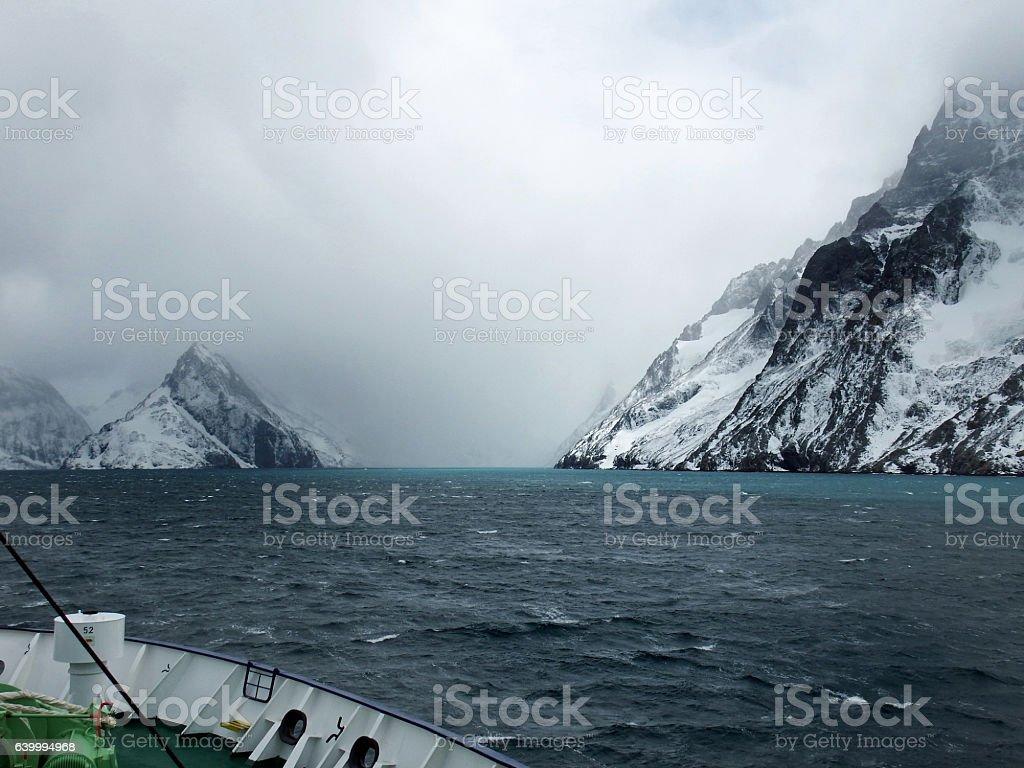 Drygalski fjord, South Georgia stock photo