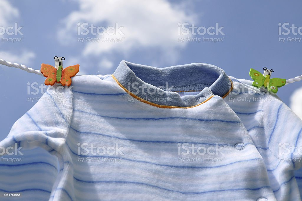 Drying Baby Sweater royalty-free stock photo