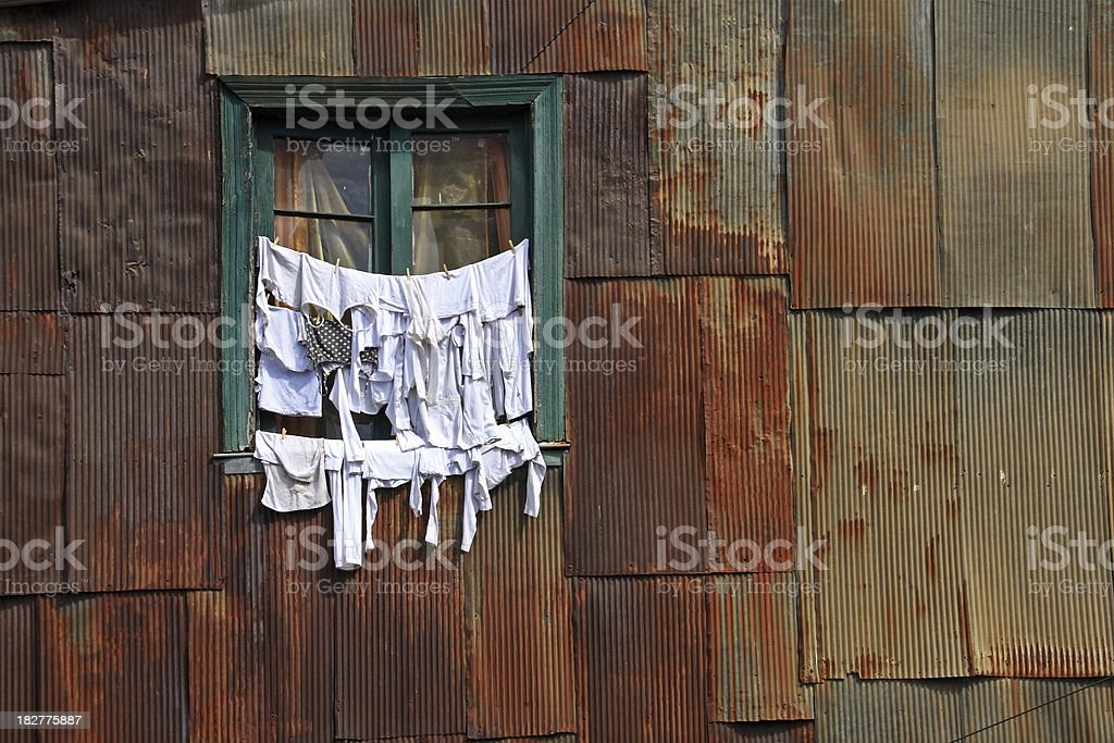 Drying clothes royalty-free stock photo