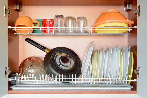 Drying Dishes Stock Photo - Download Image Now