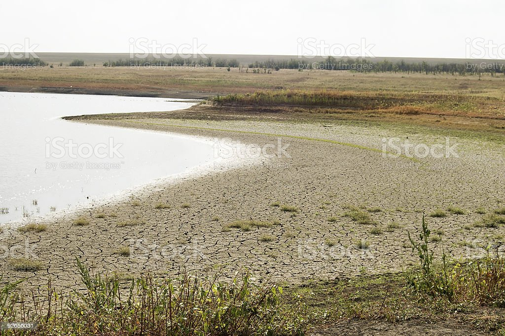 drying lake royalty-free stock photo