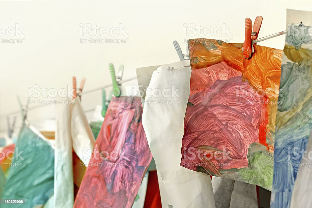 Drying Paintings royalty-free stock photo