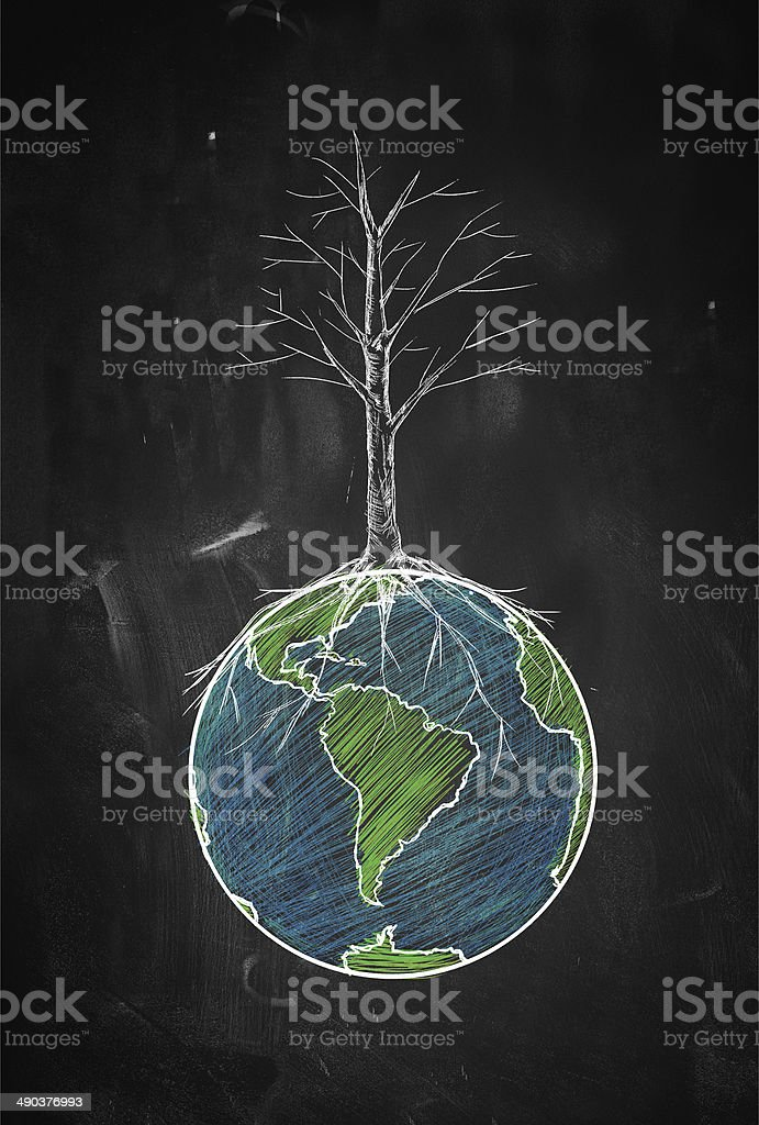 Dryness of the world stock photo