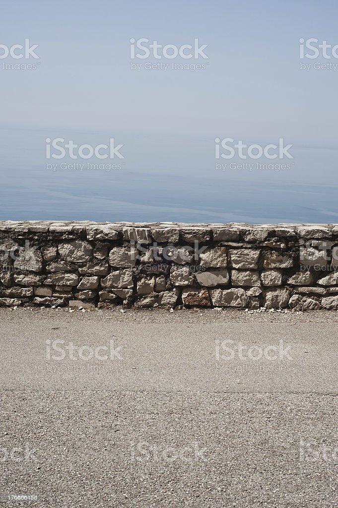Dry-stone wall royalty-free stock photo