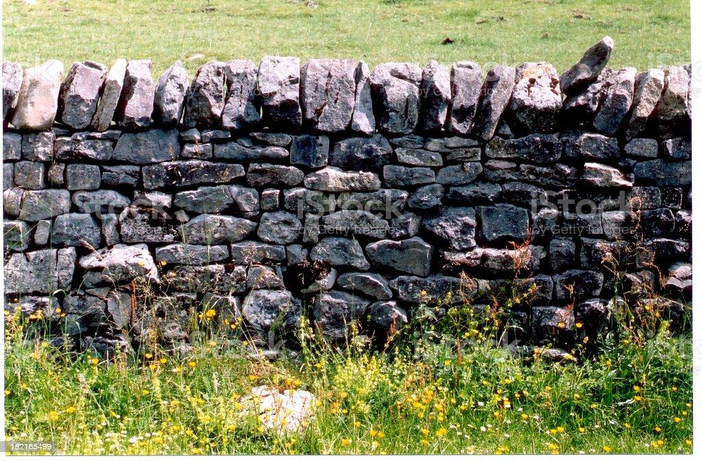 Drystone wall royalty-free stock photo
