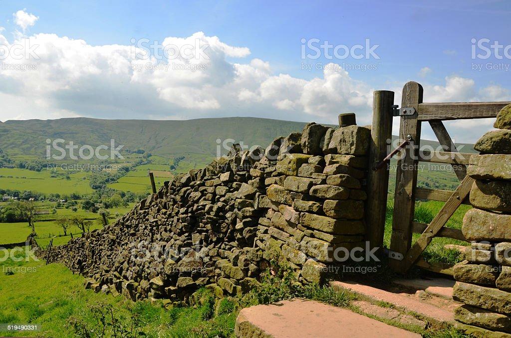 drystone wall stock photo