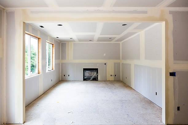 Drywall installation in ein neues Zuhause Bauarbeiten – Foto